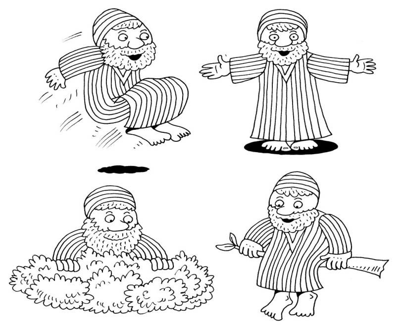 Zacchaeus Coloring Pages Az Sketch Coloring Page