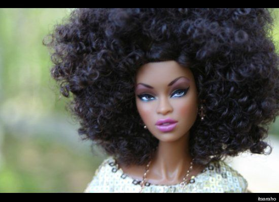 Natural Hair Barbie Natural Hair Doll Natural Hair Styles Hair Makeover
