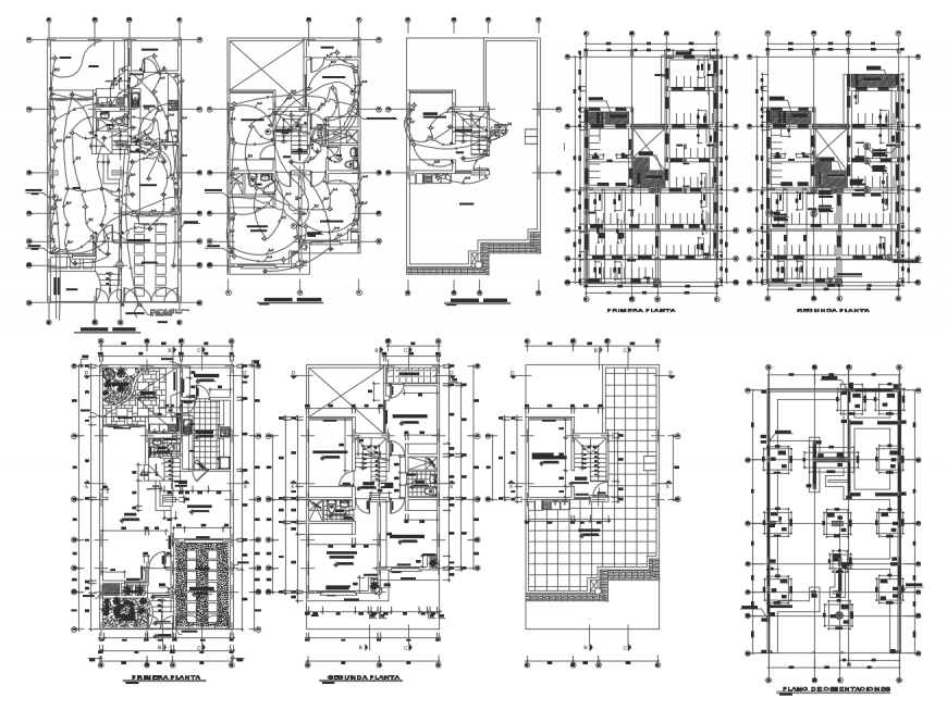 building working plan with electrical installation 2d view dwg file | open  house plans, architecture house, how to plan  pinterest