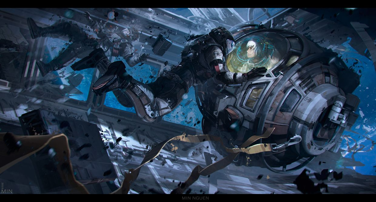 http://bit.ly/1Ozz146 byMin Nguen: AnomalyAnomaly. Personal project #scifi #casualty #smash #robot #future