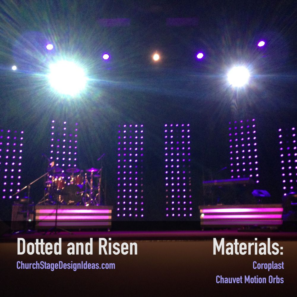 Dotted And Risen Church Stage Design Dots Stage Design