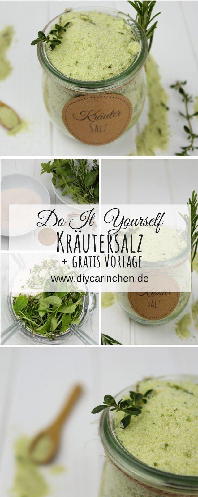 Rezept – Kräutersalz mit Basilikum, Rosmarin, Oregano und Thymian einfach selber machen