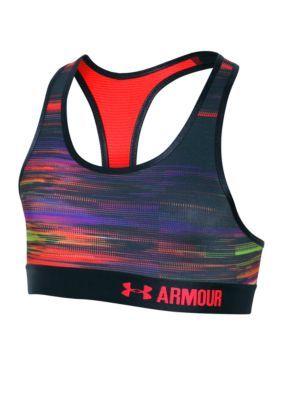 7e8535da89f62 Under Armour BlackRocket RedRocket Red Novelty Armour Sports Bra Girls 7-16