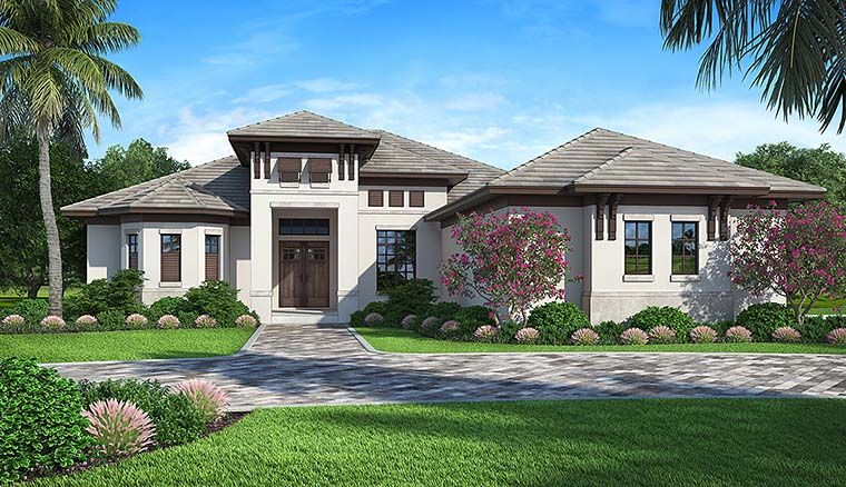 Mediterranean Style House Plan 52933 With 4 Bed 3 Bath 3 Car Garage Mediterranean House Plans Mediterranean Style House Plans Florida House Plans