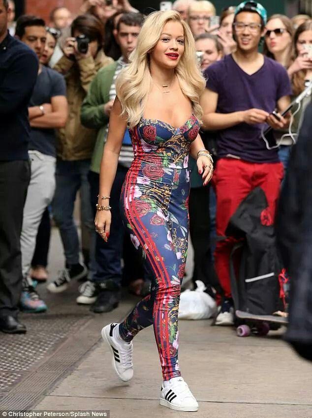 Rita ora adidas originals suit