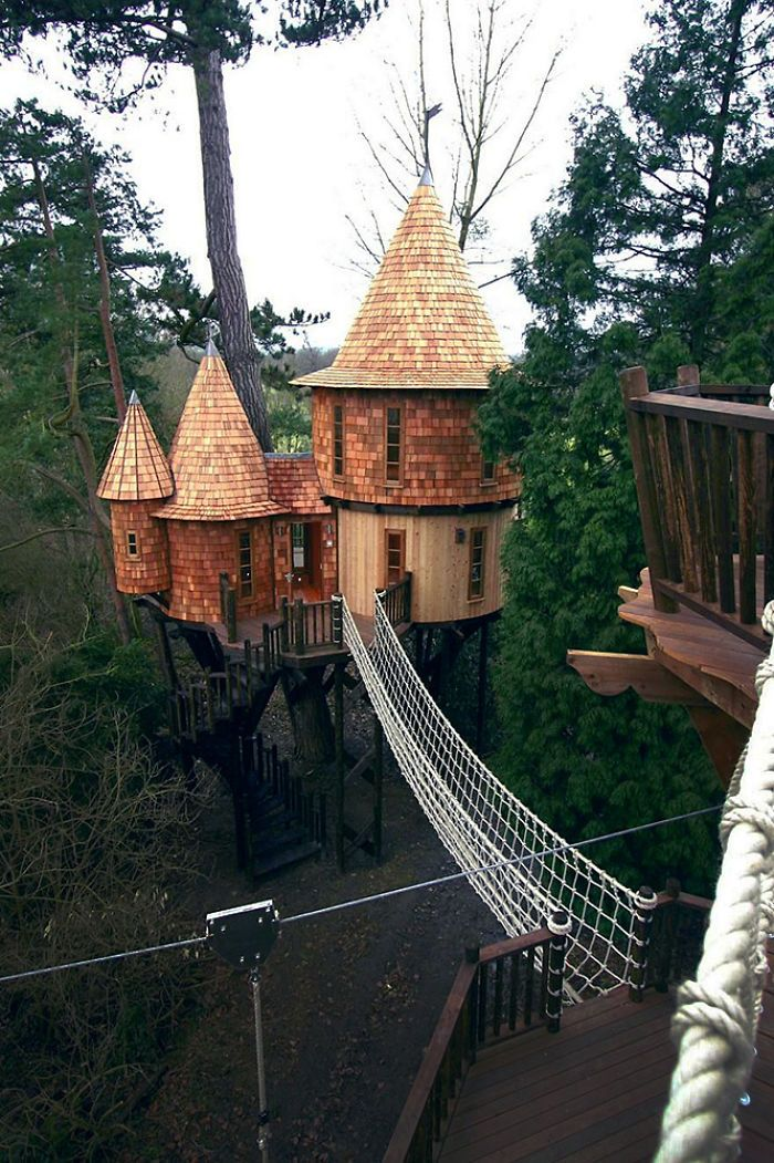 Living the highlife treehouse in uk also tree house pinterest rh