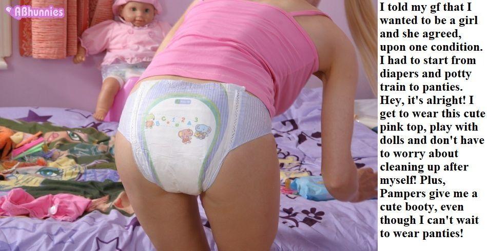 Chubby sissy panties