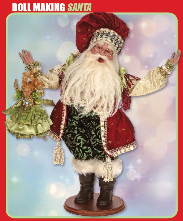 doll maker santa by mark roberts wwwchristmas magiccom