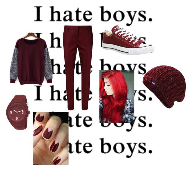 """I hate boys"" by alexisdior ❤ liked on Polyvore featuring Dorothee Schumacher, Converse, Keds, Puma, women's clothing, women, female, woman, misses and juniors"