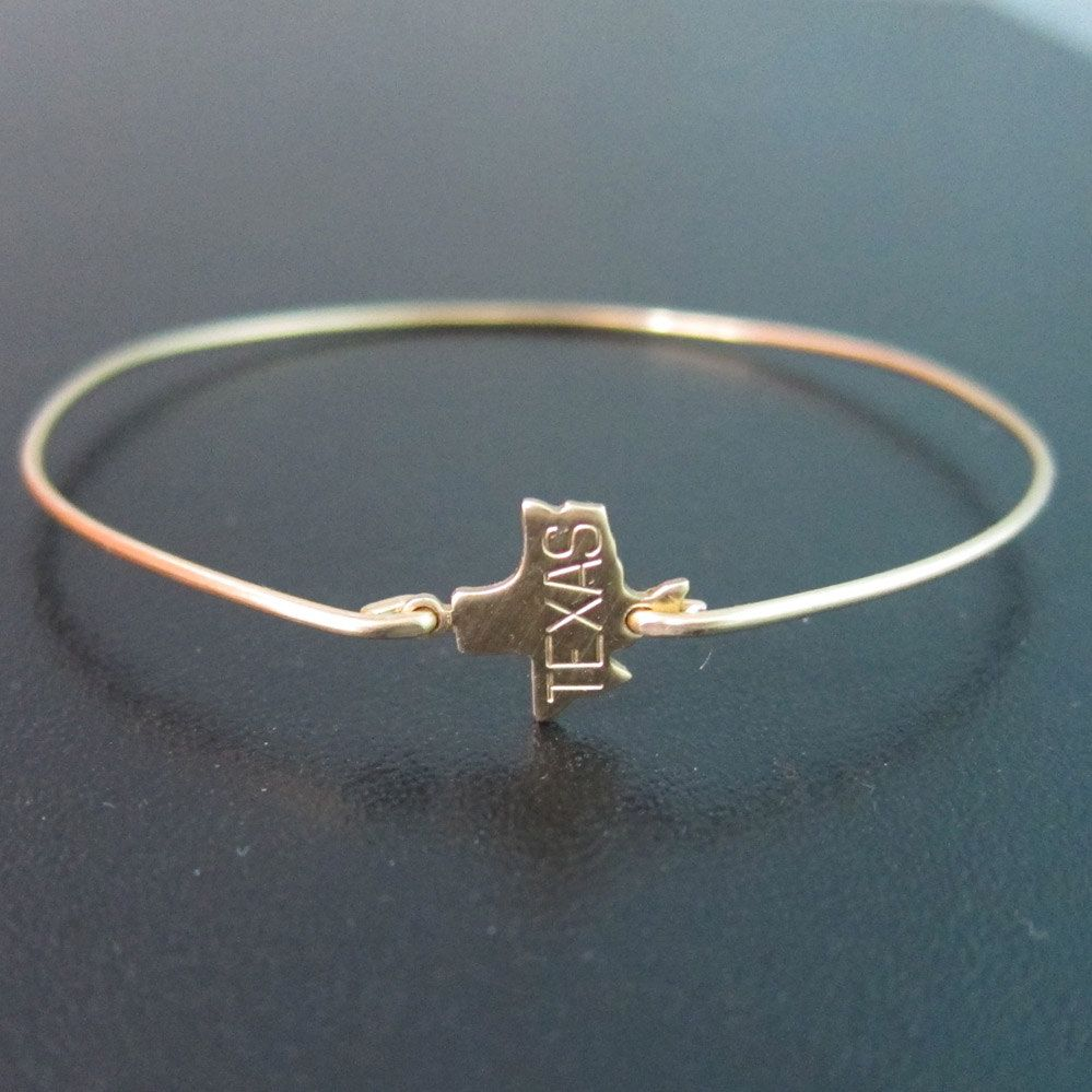 Preorder Texas State Bracelet Gold Bangle Charm Of Jewelry
