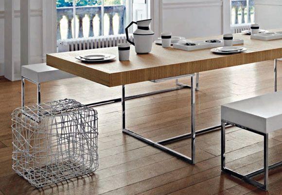 Mesa roble acero | Para el hogar | Pinterest | Roble, Mesas y Para ...