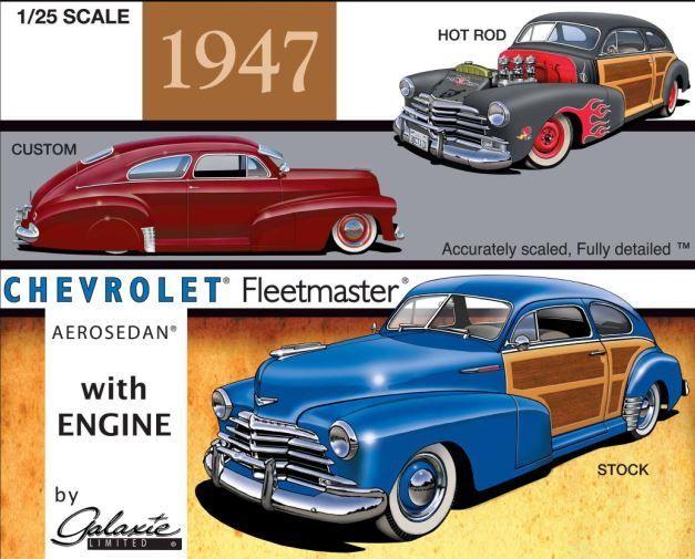 1947 Chevrolet Aerosedan 1 25 Galaxie Car Model Plastic Model Kits Galaxie