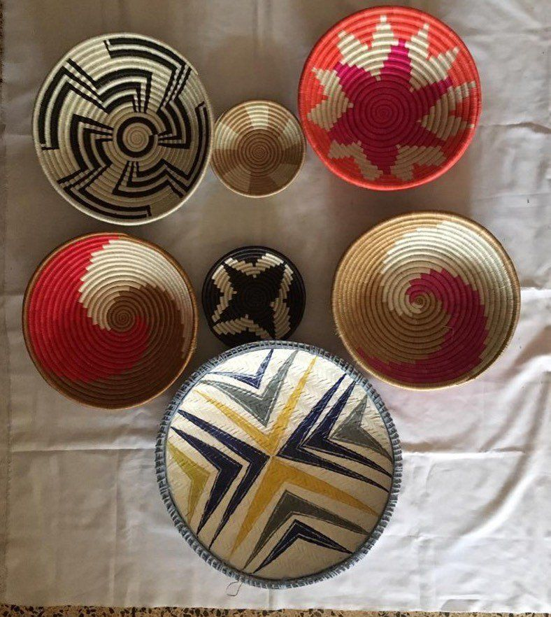 African Woven Wall Baskets 6 African Wall Basket Woven Etsy Baskets On Wall African Baskets Wall Basket Wall Decor