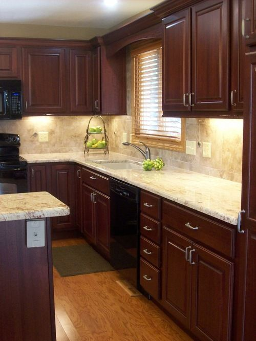 Astounding Traditional Cherry Cabinetry Kitchen Design Ideas Remodel Home Remodeling Inspirations Genioncuboardxyz
