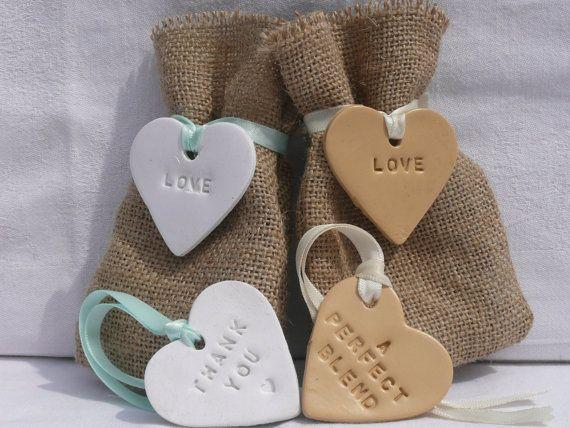 10 X Burlap Hessian Wedding Favour Bags Custom Orders Available