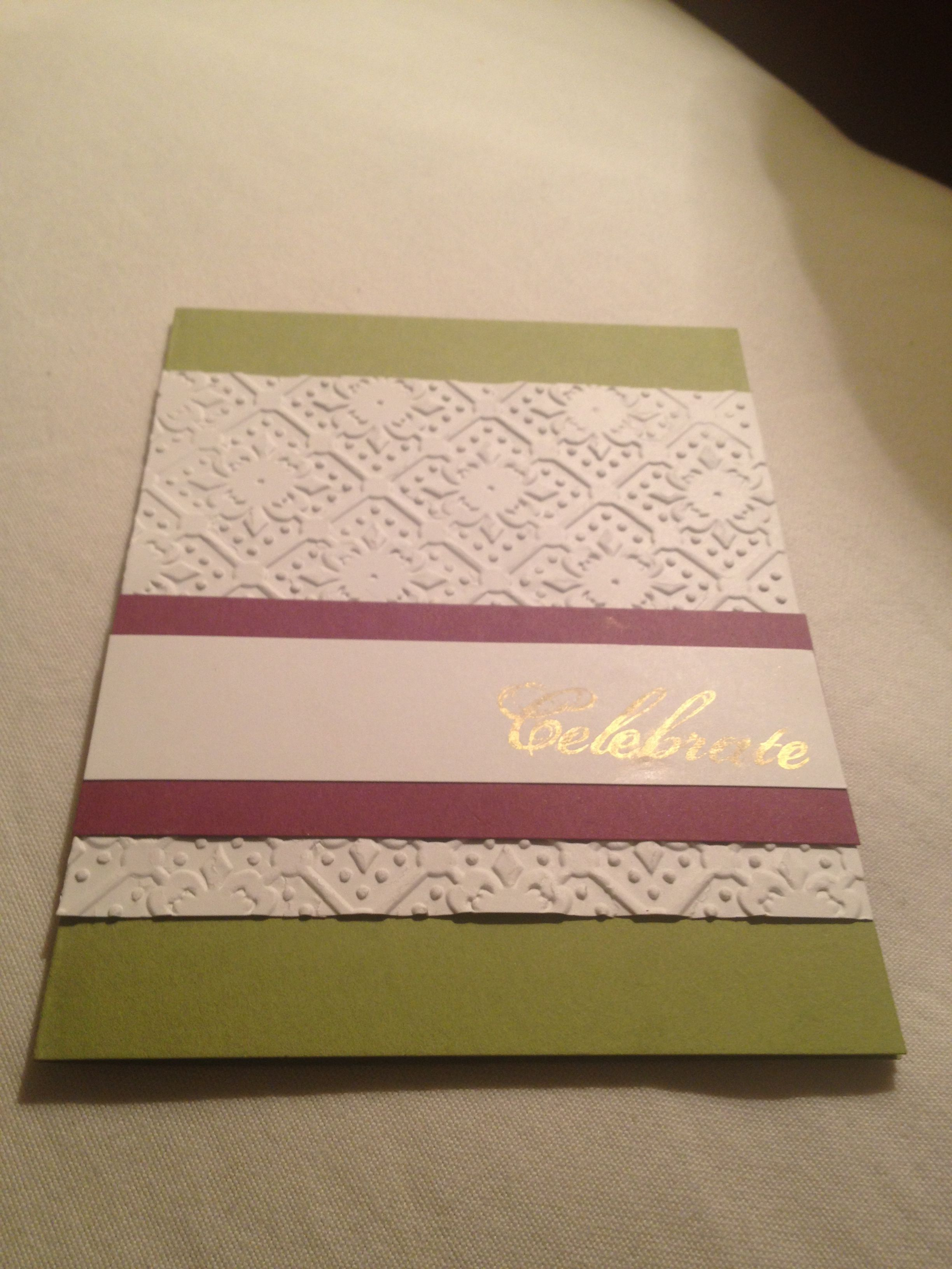 A birthday card i made for my grandma using stampin up paper colors