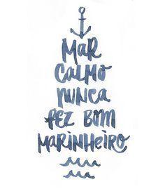 Arte BOM MARINHEITO de Letteringraphy!! Disponível em camiseta, poster, caneca e…