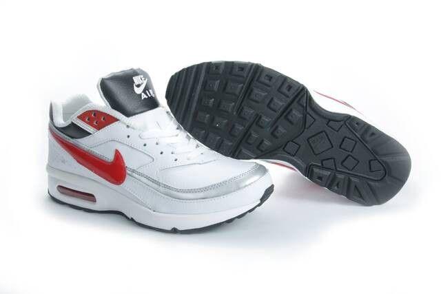 Nike Air Max Classic BW Homme Pas Cher Blanc Argent Rouge Noir HOT SALE! HOT