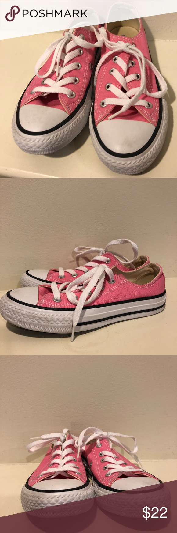 a3921df9d40c Converse little girls  pink Chuck Taylor size 13 Classic Chuck Taylor s ( Converse) in a little kids size! Gently used but bottoms are like new.