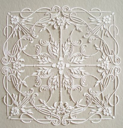 Plaster Stencil Arquette Tile Plaster Wall Art Stencil Painting