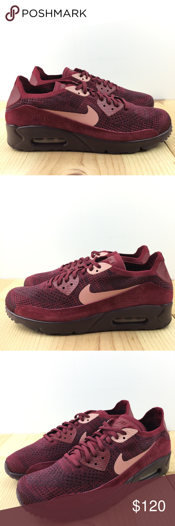 Nike Air Max 90 Ultra 2.0 Flyknit Red 875943 601 Men' Casual Shoes