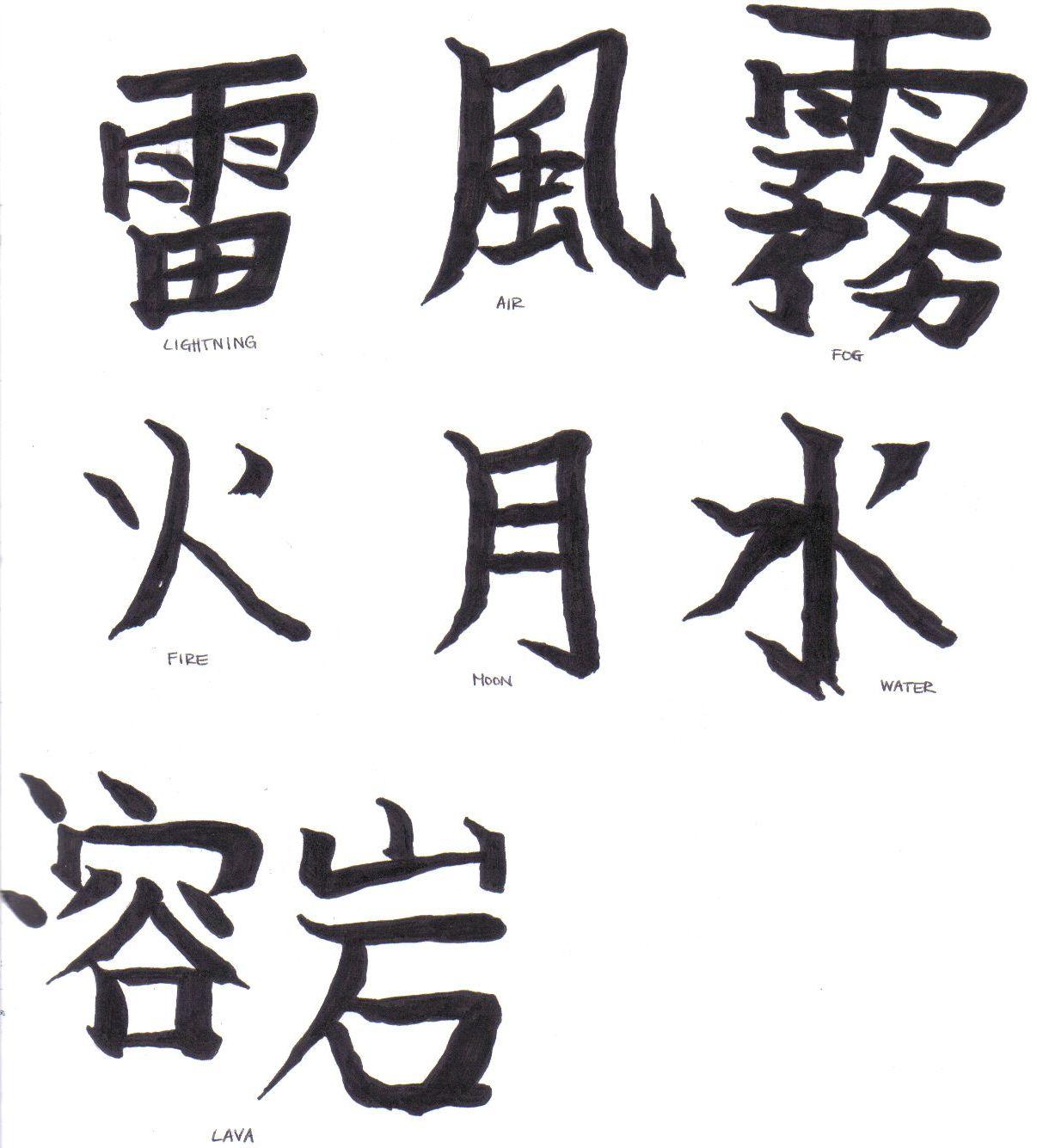 Afbeeldingsresultaat Voor Japanese Kanji Lightning Japanese Symbol Japanese Symbols