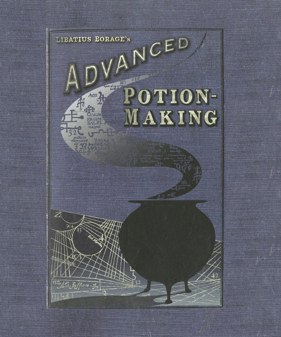 Harry Potter Book Front Cover ~ Advanced potions book front cover theme harry potter