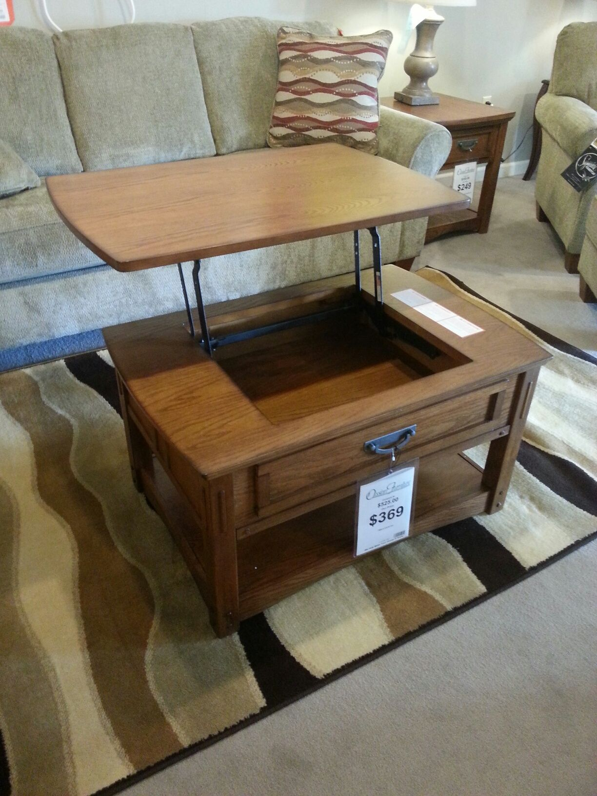 Coffee table turned into tv dinner tray just 369 at coffee table turned into tv dinner tray just 369 at ossianfurniture geotapseo Images