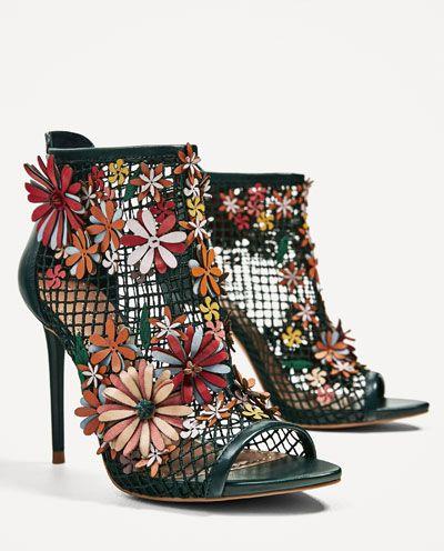 Flores Zapatos Boots Sandalia Rejilla Zara Ankle T vNP8m0ynwO