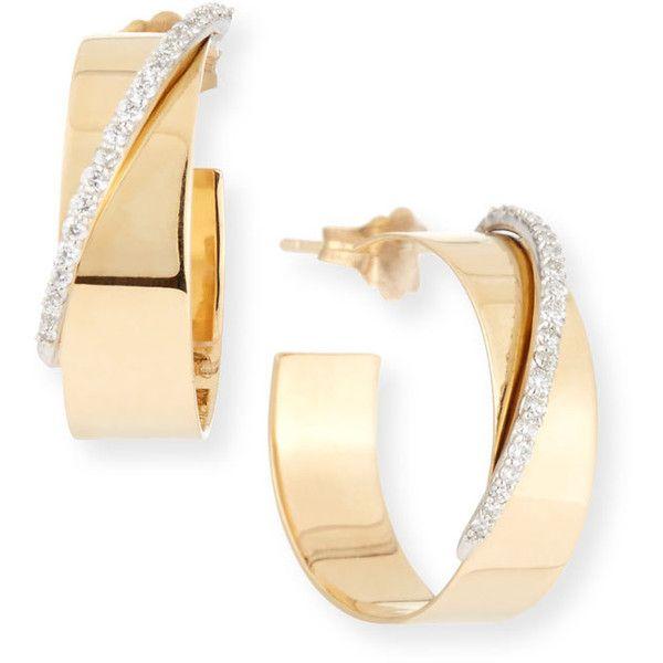 Lana Small Vanity Expose 14k Gold Diamond Huggie Hoop Earrings