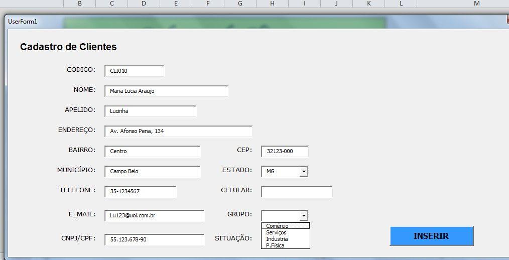 Planilhas Excel Gratuita Cadastro De Clientes Cadastro Planilhas