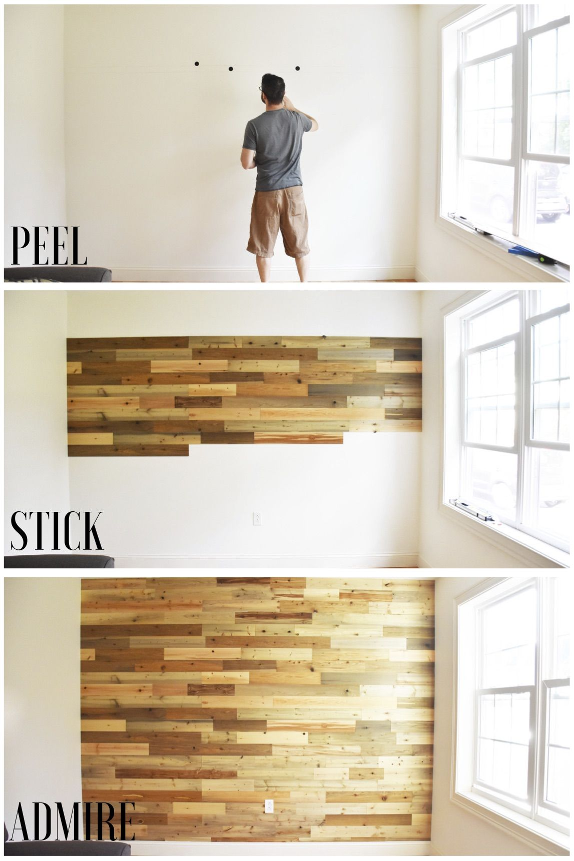 Timberchic Is A Super Easy Peel And Stick Wall Application That