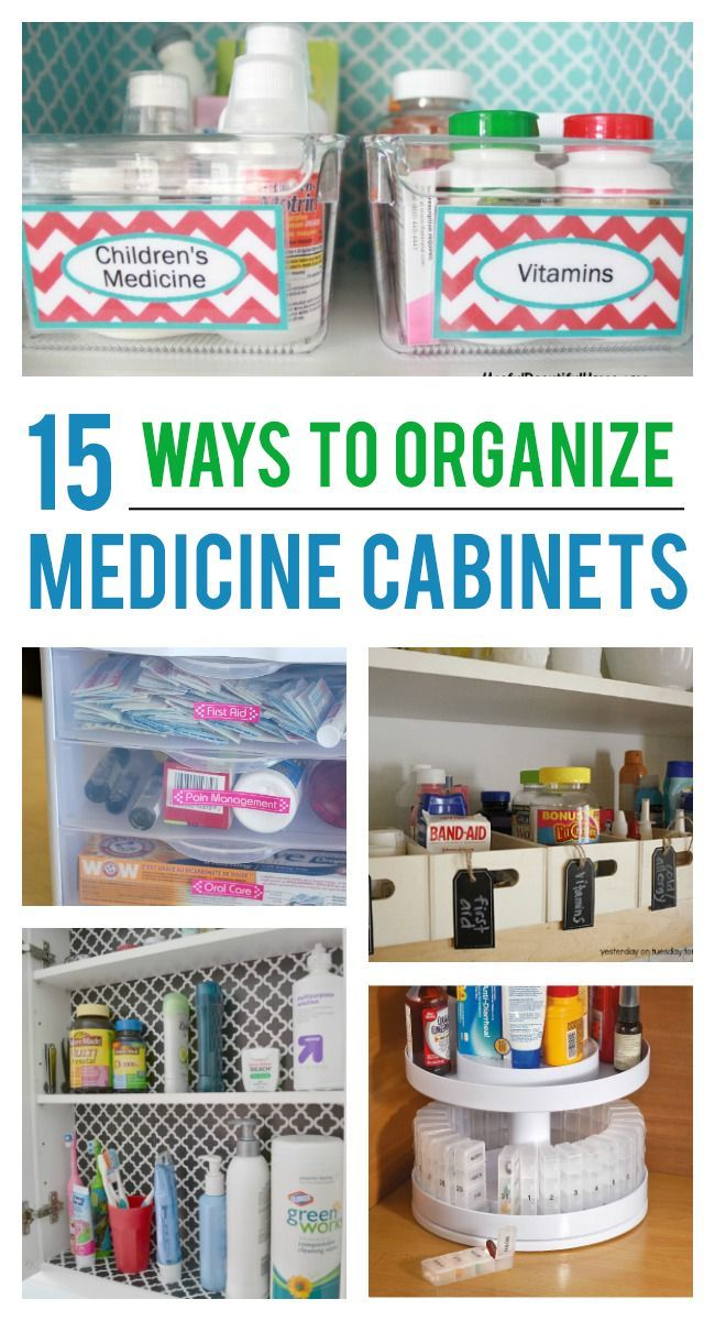 If Yours Is As Messy Mine Here Are Some Great Ideas To Organize Your Medicine Cabinet