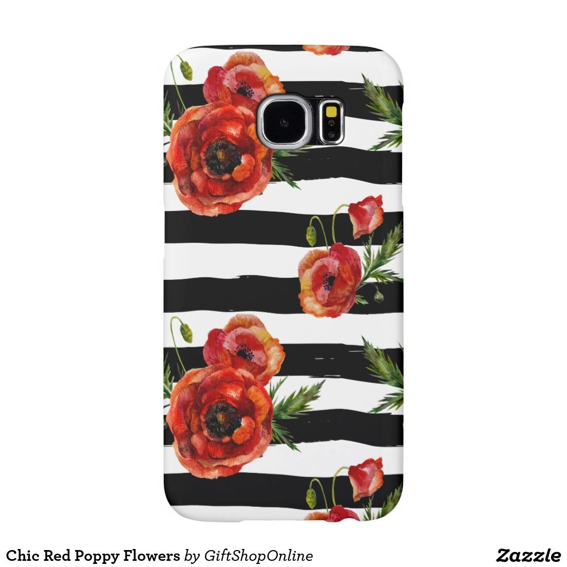 Chic red poppy flowers samsung galaxy s6 case poppy flowers chic red poppy flowers samsung galaxy s6 case black friday sale coupon code is blackfrisave red poppiesflowersblack and whitestripespoppy flower floral mightylinksfo