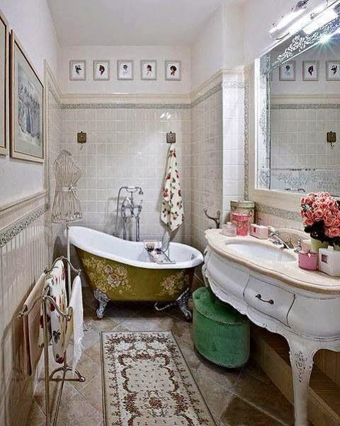 Decorar el baño con tina y lavamanos vintage baños muebles