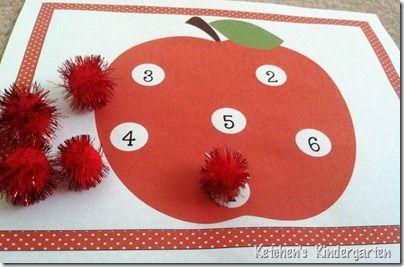Apple themed math and literacy freebies from Ketchen's Kindergarten