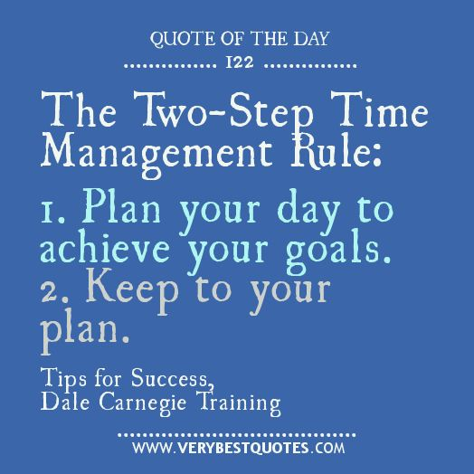 Two-Step Time Management Rule: