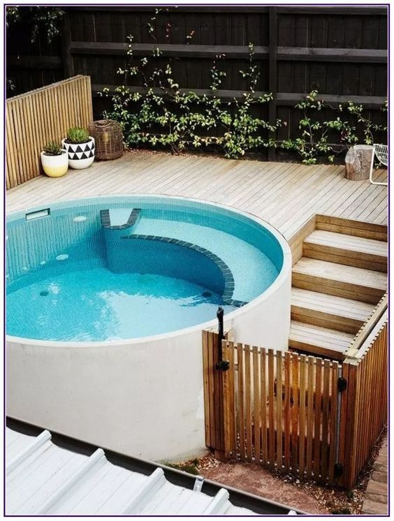 Simple and Chic Round Hot Tub Ideas for Minimalist Look ...