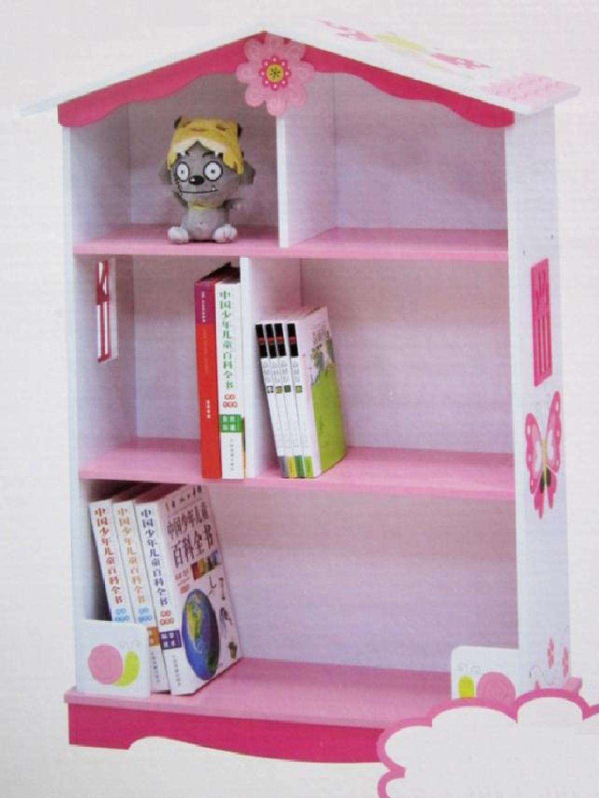 Xiaomulang Butterflies And Flowers Dolls House Shaped Bookshelf Last
