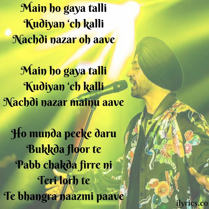 Lyric much more lyrics : Ho Gaya Talli Lyrics From Super Singh By Diljit Dosanjh - | Latest ...