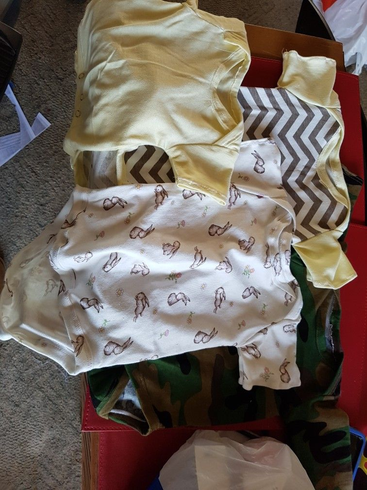 A couple of romper presents I stitched for some upcoming babies/mums