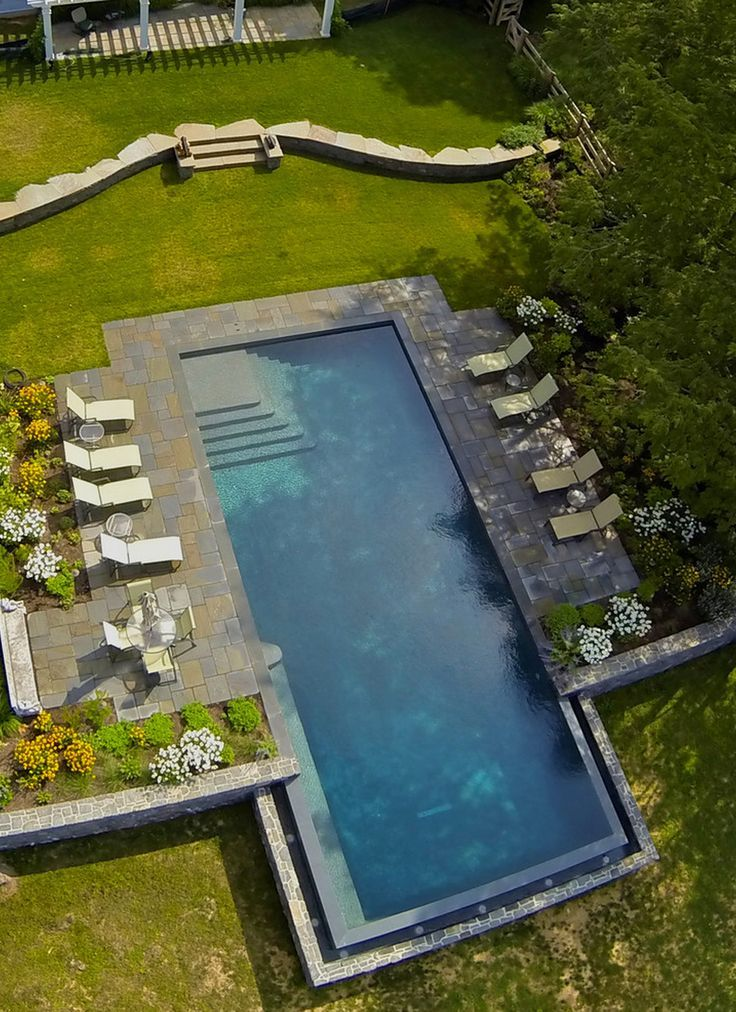 image result for concrete around rectangular pool - Rectangle Pool