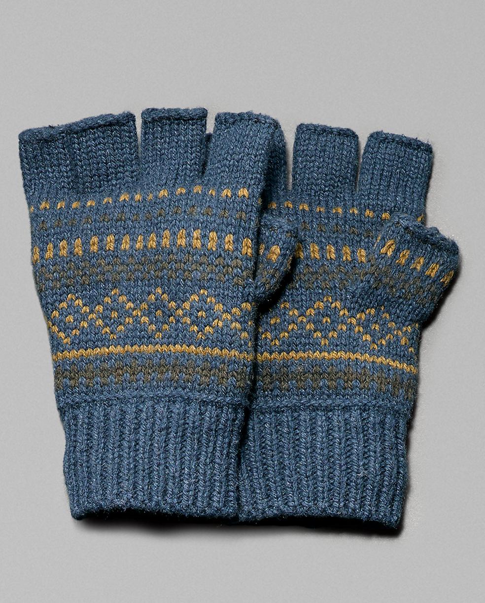 Men\'s Deer Valley Jacquard Fingerless Gloves: Fingerless gloves of ...