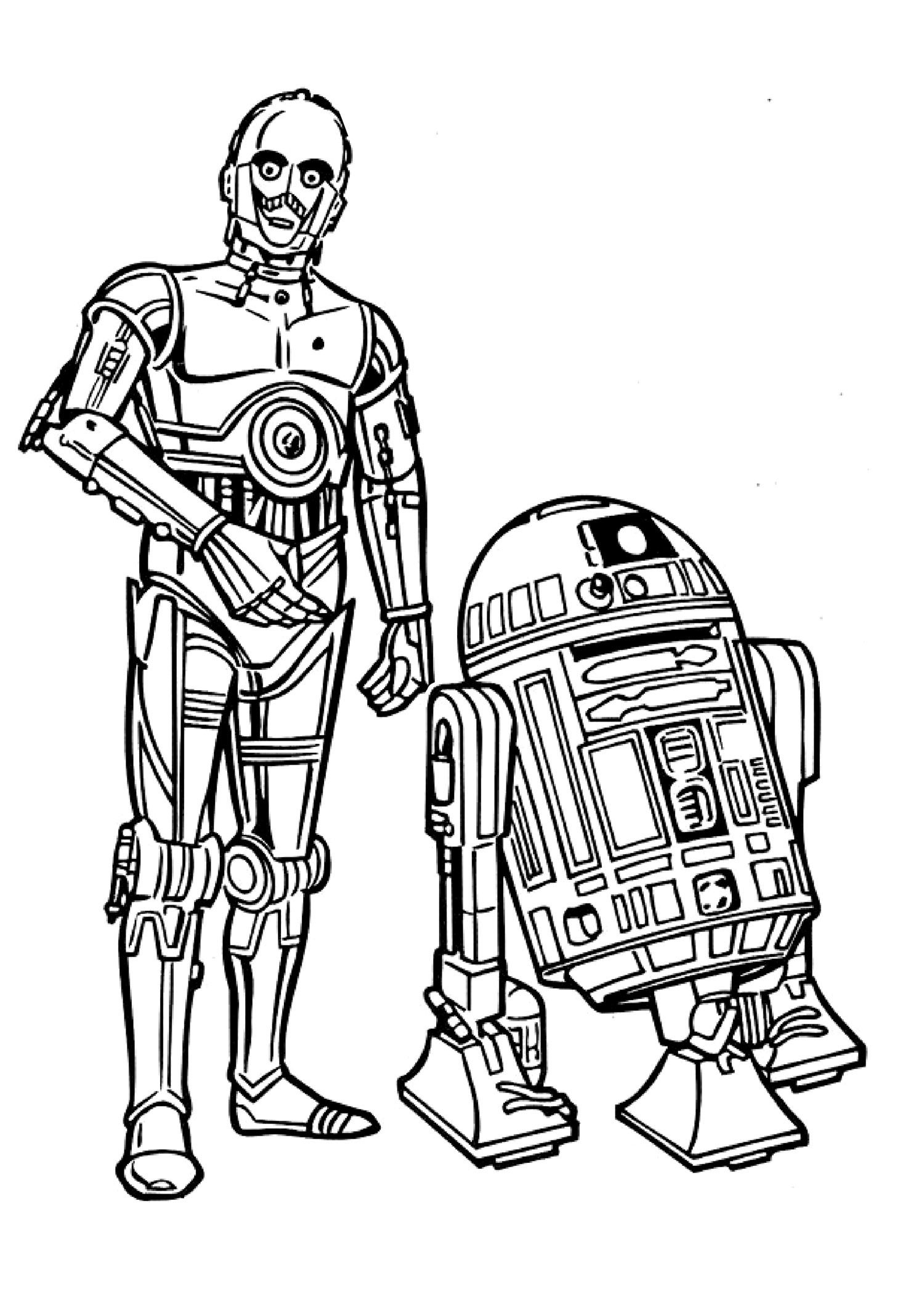 R2d2 And C3po Drawing c3po drawings | Termes...