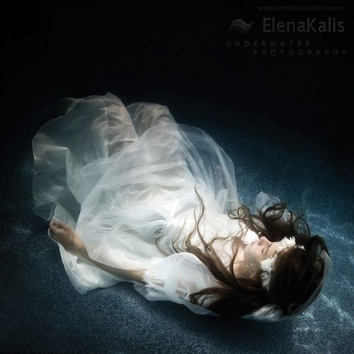 By Elena Kalis. This reminds me of Ophelia in Hamlet.
