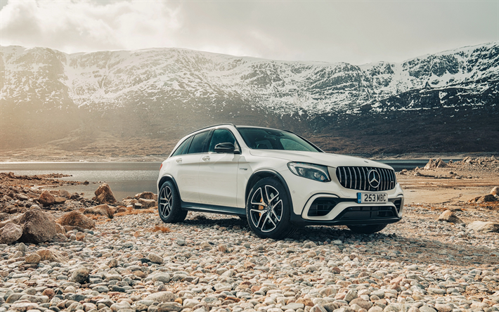 Download wallpapers Mercedes-Benz GLC, AMG, 4MATIC, 2018 ...