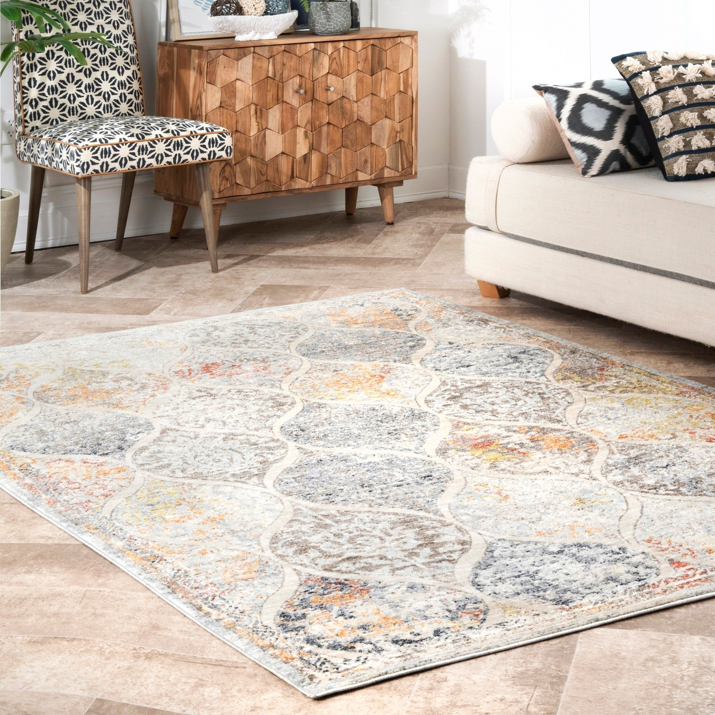 Nuloom Transitional Geometric Trellis Miar Area Rug 8 X 10 Multicolor Area Rugs Trending Decor Colorful Rugs