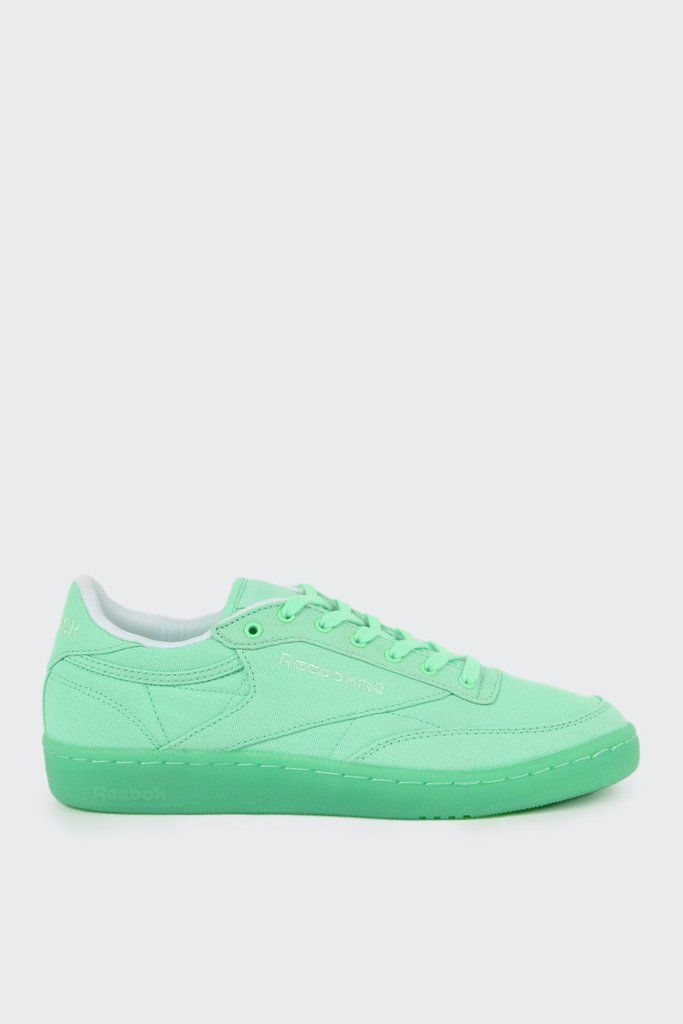 Reebok Womens Club C 85 Canvas - mint green whiteFit  True to sizeMaterials  9cc4a7db5