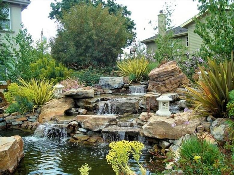 32 Perfect Waterfall Landscape Design Ideas | Outdoor and Gardening ...