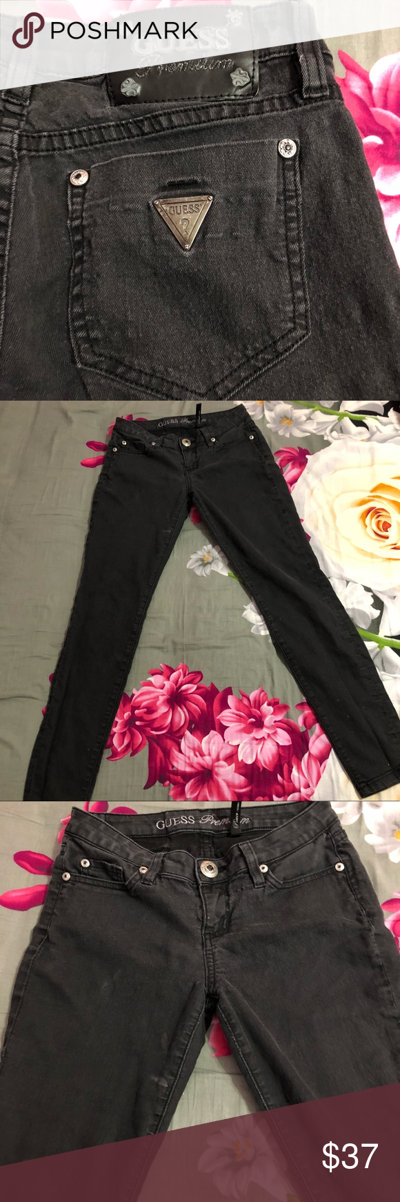 GUESS Premium Power Skinny Jeans GUESS Power Premium Black